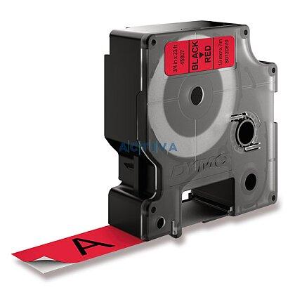 Obrázek produktu Dymo D1 S0720870 - originální polyesterová páska - 19 mm × 7 m, černo-červená