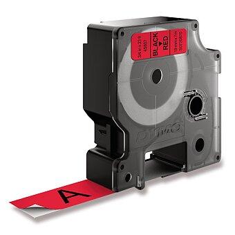 Obrázek produktu Polyesterová páska Dymo D1 - 19 mm x 7 m, černý tisk / červená páska