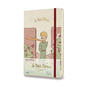 Obrázek produktu 18měsíční diář Moleskine 2020-21 Le Petit Prince, tvrdé desky - L, denní, Růže