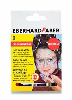 Obrázek produktu Barvy na obličej Eberhard Faber - Glamour - 6 barev, v tužce