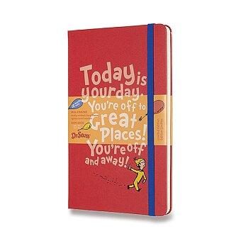 Obrázek produktu 18měsíční diář Moleskine 2019-20 Dr. Seuss, tvrdé desky - L, týdenní, červený