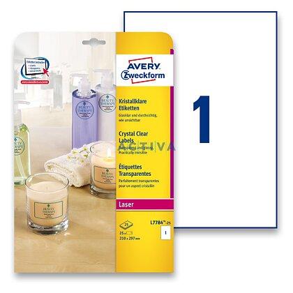 Obrázek produktu Avery Zweckform - samolepicí čiré etikety - 210 × 297 mm, 25 etiket