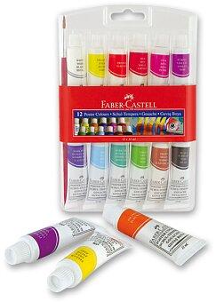 Obrázek produktu Temperové barvy Faber-Castell - 12 barev, tuba 12 ml