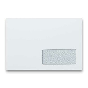 Obrázek produktu Obálka Clairefontaine C5 - s okénkem, samolepicí, bílá