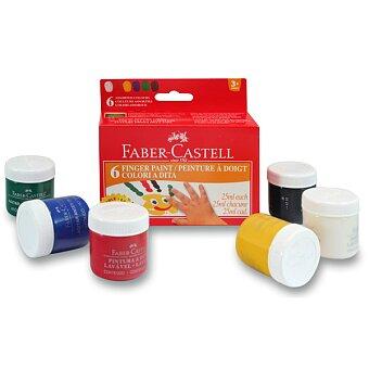 Obrázek produktu Prstové barvy Faber-Castell - 6 barev, 25 ml
