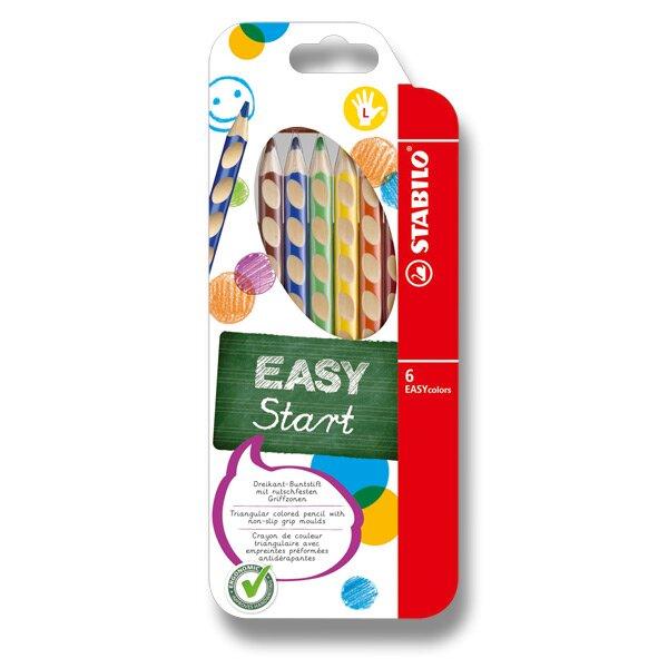 Pastelky Stabilo EASYcolors 6 barev, pro leváky Stabilo