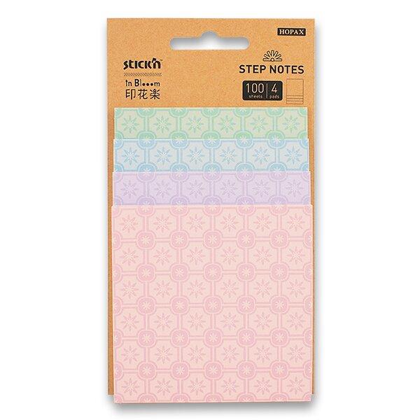 Samolepicí bločky Hopax Stick'n Magic in Bloom 4 velikosti, 100 listů, pastelové barvy