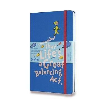 Obrázek produktu 18měsíční diář Moleskine 2019-20 Dr. Seuss, tvrdé desky - L, týdenní, modrý