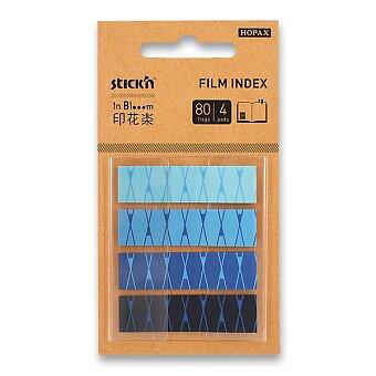 Obrázek produktu Samolepicí záložky Hopax Stick'n Pop-Up in Bloom - 45 x 12 mm, 4 x 20 listů, modré