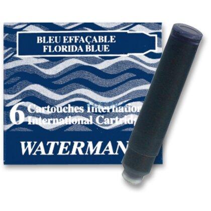 Obrázek produktu Waterman - inkoustové bombičky krátké - modročerné, 6 ks