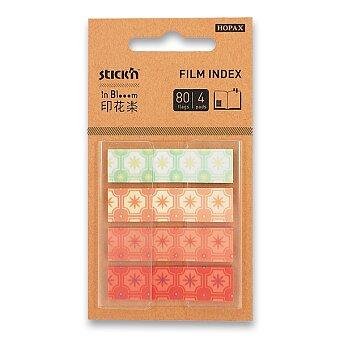 Obrázek produktu Samolepicí záložky Hopax Stick'n Pop-Up in Bloom - 45 x 12 mm, 4 x 20 listů, kytky