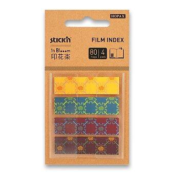 Obrázek produktu Samolepicí záložky Hopax Stick'n Pop-Up in Bloom - 45 x 12 mm, 4 x 20 listů, vzory