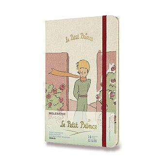 Obrázek produktu 18měsíční diář Moleskine 2020-21 Le Petit Prince, tvrdé desky - L, týdenní, Růže