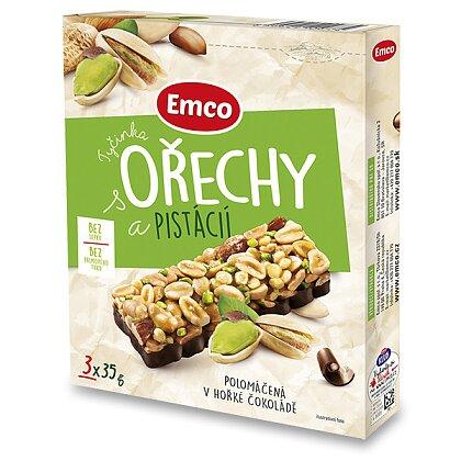 Obrázek produktu Emco - ořechové tyčinky - Ořechy a pistácie, 3 ks