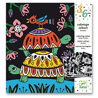 Sametové malování Djeco - Na souši i ve vodě