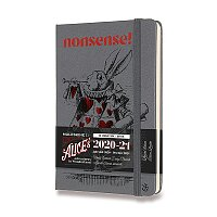 18měsíční diář Moleskine 2020-21 Alice In Wonderland, tvrdé desky