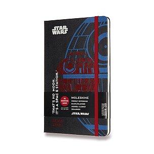 18měsíční diář Moleskine 2019-20 Star Wars, tvrdé desky