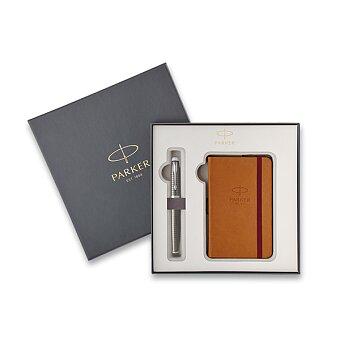 Obrázek produktu Parker IM Premium Dark Espresso CT - plnicí pero, dárková sada se zápisníkem