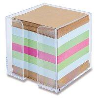 Čirý box s barevným poznámkovým papírem Clear Cube