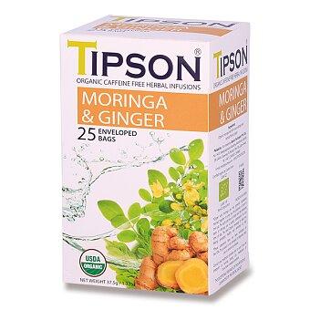 Obrázek produktu Bylinný čaj Tipson BIO Moringa & Ginger - 25 sáčků