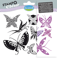 Razítka gelová Stampo Clear - Motýlci