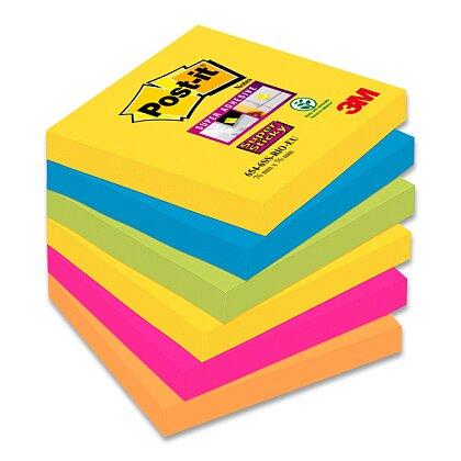 Obrázek produktu 3M Post-it - silně lepicí bločky - 76 x 76 mm, 6 x 90 l., kolekce Rio