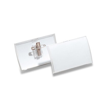 Product image Durable - lock-in name-card with plastic clip