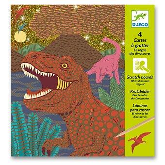 Vyškrabávací obrázky Djeco - Dinosauři
