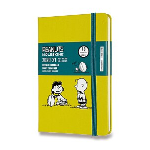 18měsíční diář Moleskine 2020-21 Peanuts, tvrdé desky