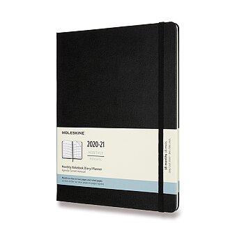 Obrázek produktu 18měsíční diář Moleskine 2020-21 - tvrdé desky - XL, měsíční, černý