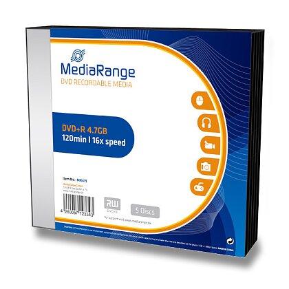 Obrázek produktu MediaRange - zapisovatelné DVD+R - 4,7 GB, 5 ks