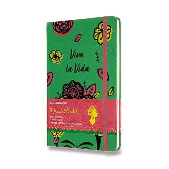 Obrázek produktu Zápisník Moleskine Frida Khalo - tvrdé desky - L, linkovaný, zelený