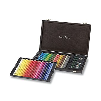 Obrázek produktu Pastelky Faber-Castell Polychromos - dřevěná kazeta, 48 barev