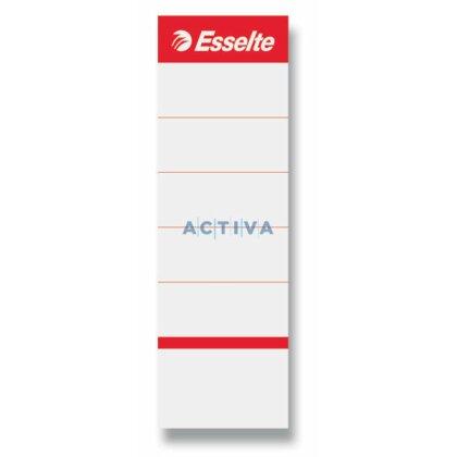 Obrázek produktu Esselte - náhradní etikety pro pákové pořadače, šíře hřbetu 75 mm