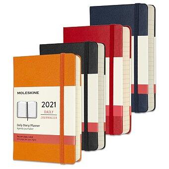 Obrázek produktu Denní diář Moleskine v tvrdých deskách 2021 - 9 x 14 cm, výběr barev
