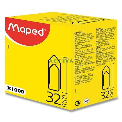 Obrázek produktu Maped Medium Clips - kancelářské ocelové sponky - 32 mm, 1000 ks