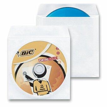 Obrázek produktu Papírová obálka na CD/DVD - bílá, 100 ks