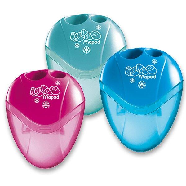 Ořezávátko Maped I-gloo - s odpadní nádobkou 2 otvory, mix barev