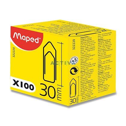 Obrázek produktu Maped Standard Clips - kancelářské ocelové sponky - 30 mm, 100 ks