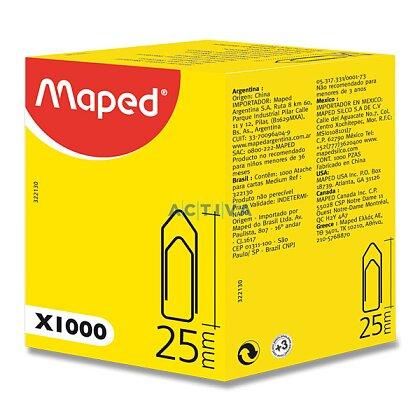 Obrázek produktu Maped Medium Clips - kancelářské ocelové sponky - 25 mm, 1000 ks
