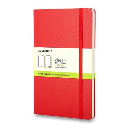 Obrázok produktu Moleskine- zápisník v tvrdých doskách - 13 x 21 cm, čistý, červený