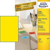 Žluté samolepící etikety Avery Zweckform