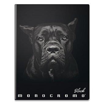 Obrázek produktu Školní sešit Pigna Monocromo Black - A4, čistý, 40 listů, mix motivů