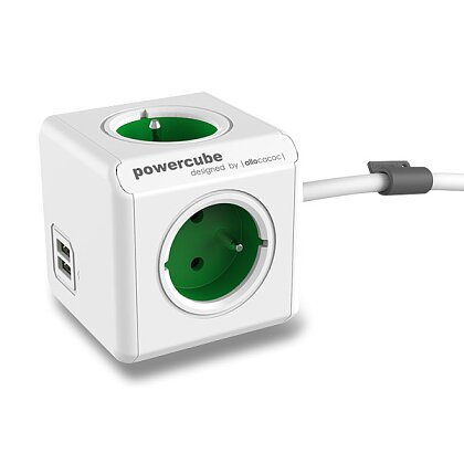 Product image PowerCube Extended USB - extension cord - 1.5 m, green