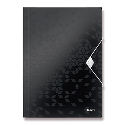 Obrázek produktu Leitz Wow - tříchlopňové desky - A4, černé