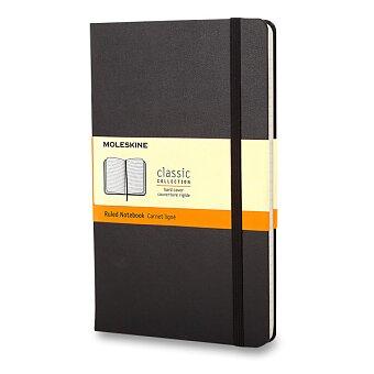Obrázek produktu Zápisník Moleskine - tvrdé desky - S, linkovaný, černý