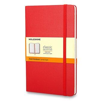 Obrázek produktu Zápisník Moleskine - tvrdé desky - S, linkovaný, červený