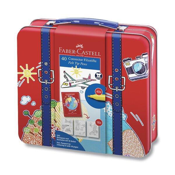 Dětské fixy Faber-Castell Connector kufřík, 40 barev