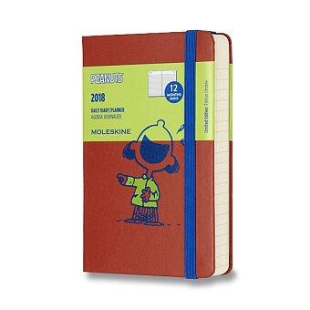 Obrázek produktu Diář Moleskine 2018 Peanuts, tvrdé desky - S, denní, oranžový