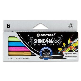 Popisovače Centropen 2590/6 Shine 4 Black